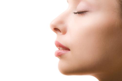 Woman Profile Eyes Closed